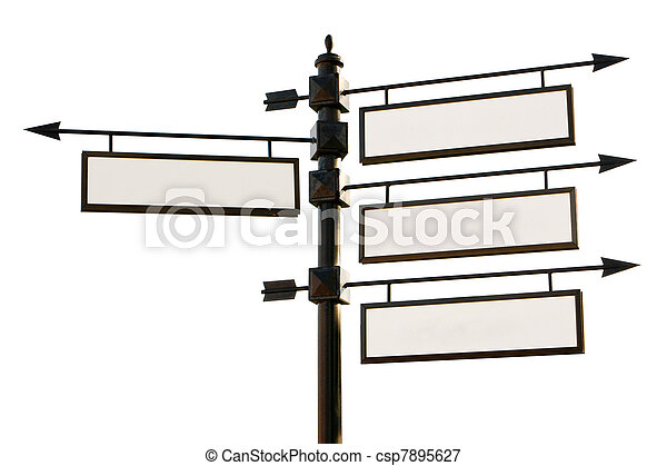 Blank road signs - csp7895627