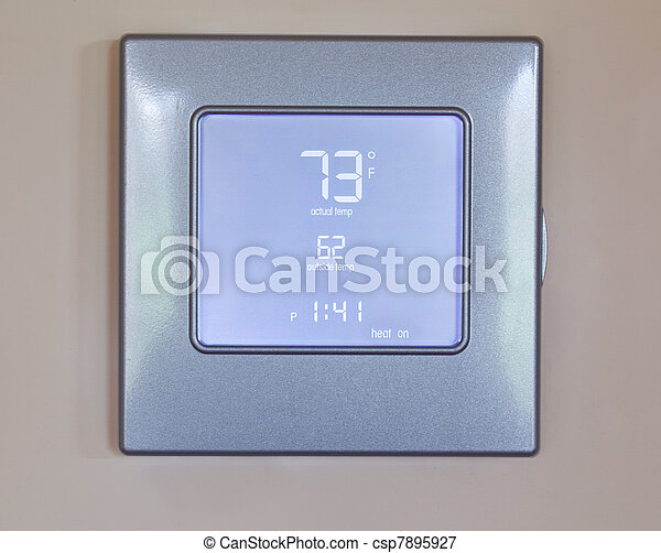 Modern electronic thermostat - csp7895927