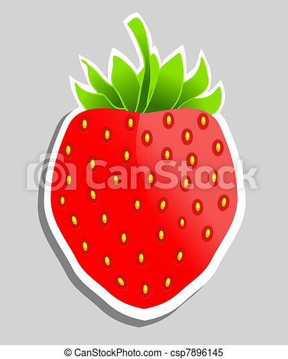 Strawberry vector illustration. Can be used as  sticker. - csp7896145