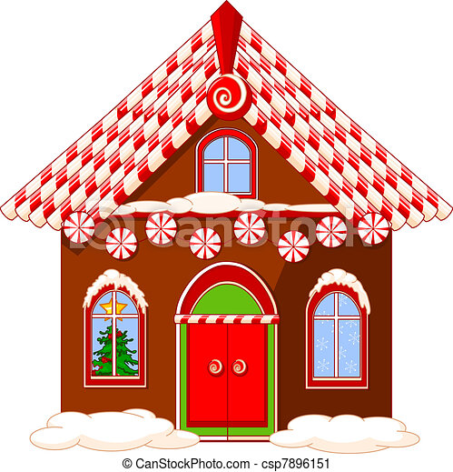 Christmas Inside House Drawing Christmas House Clipart