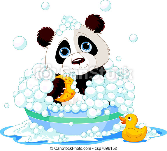 Panda having a bath - csp7896152