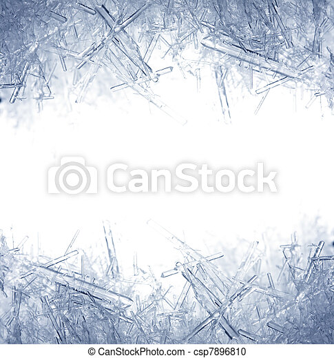 Closeup of ice crystals - csp7896810