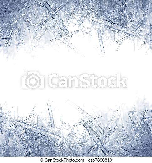 Closeup of ice crystals - csp7896810