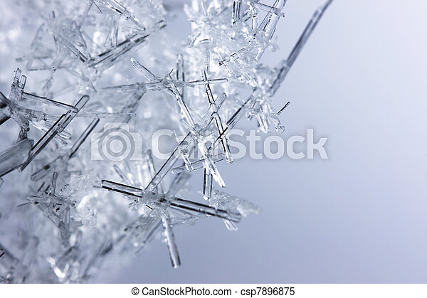 Closeup of ice crystals - csp7896875