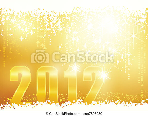 Happy New Year 2012 card - csp7896980