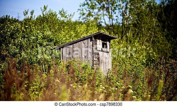 Old Outhouse Waiting For You - csp7898330