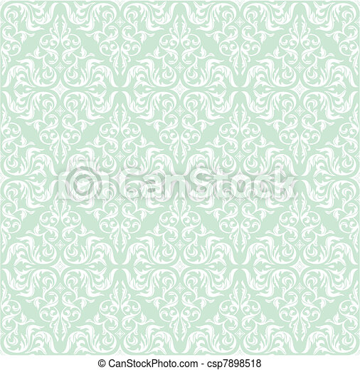 seamless retro floral background - csp7898518