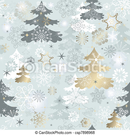 Winter repeating pattern  - csp7898968