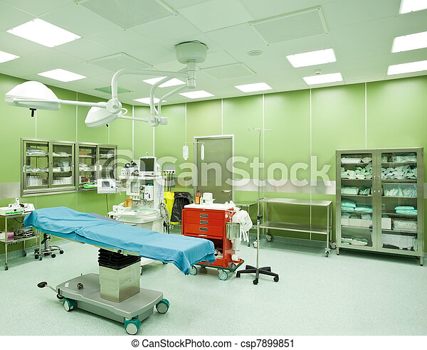 Operating room hospital nobody - csp7899851