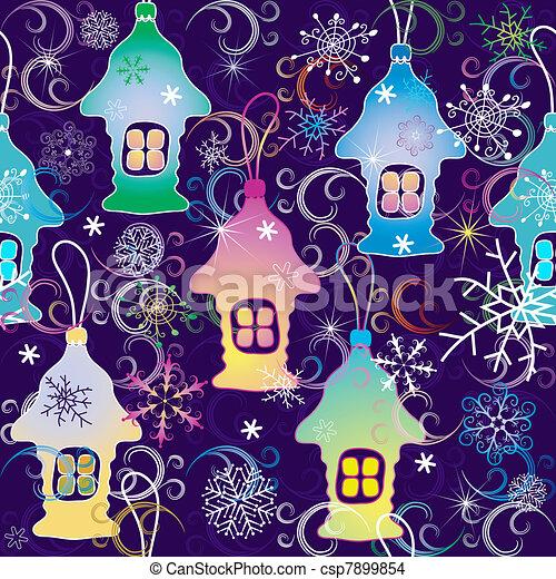 Vivid Christmas seamless pattern - csp7899854