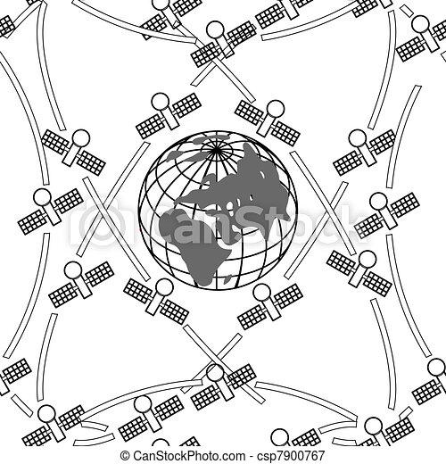 space satellites in eccentric orbits around the Earth.  - csp7900767