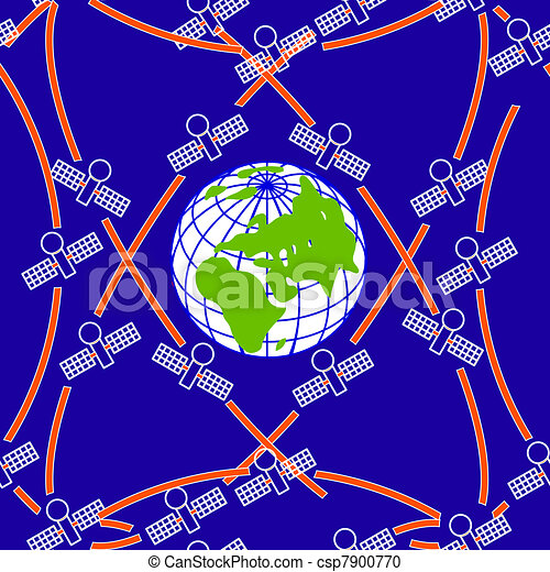 space satellites in eccentric orbits around the Earth. - csp7900770