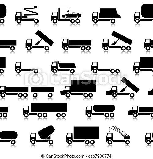 Cars, vehicles. Car body. Seamless wallpaper. - csp7900774