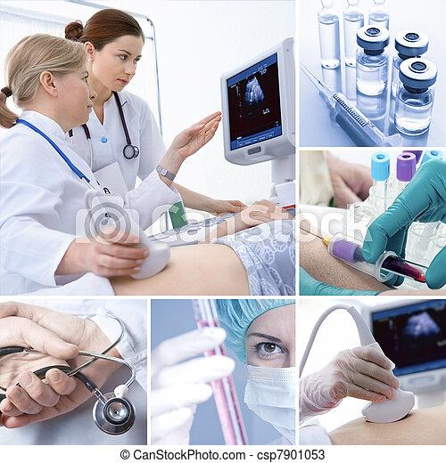 collage, médico - csp7901053