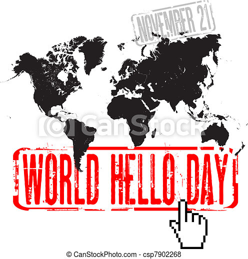 World Hello Day Vector World Hello Day