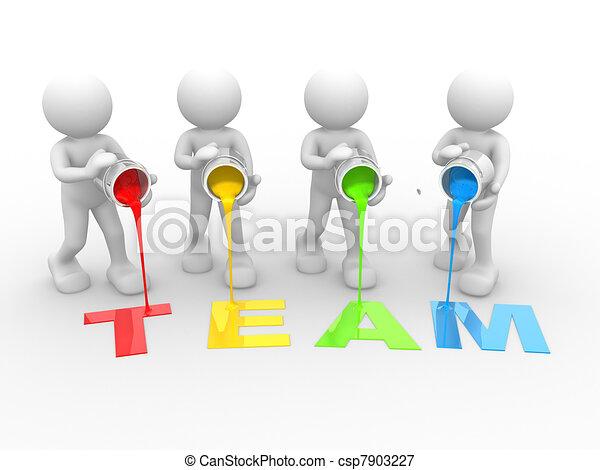 "Word ""Team"" - csp7903227"