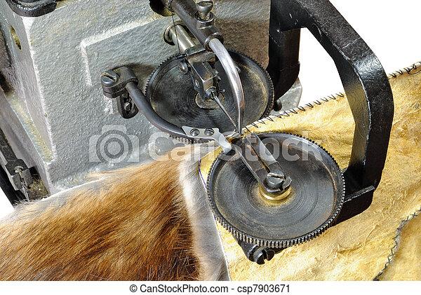 Working part furrier's sewing machine - csp7903671