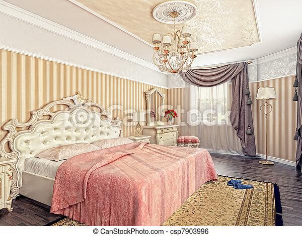 image de luxe chambre coucher moderne luxe chambre coucher csp7903996 recherchez. Black Bedroom Furniture Sets. Home Design Ideas