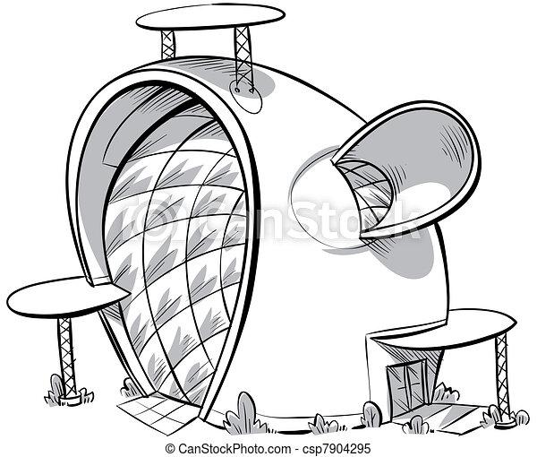 illustrations de maison dessin anim a dessin anim de a moderne csp7904295. Black Bedroom Furniture Sets. Home Design Ideas