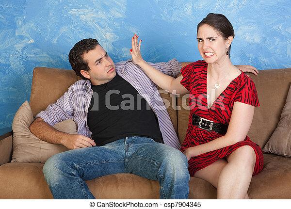 Man Slaps Another Man Woman Slaps Man Furious