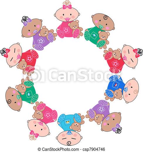 mixed ethnic babies - csp7904746