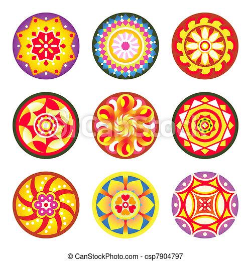 Indian floral patterns | Set 1 - csp7904797
