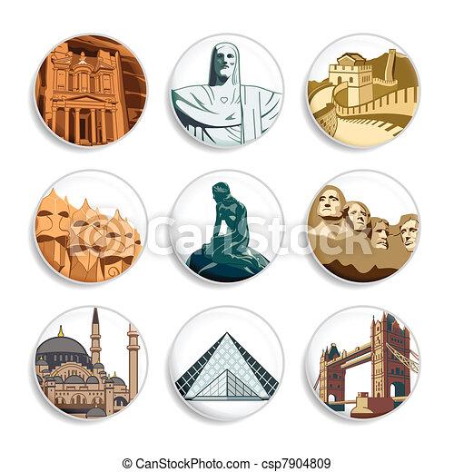 Travel badges   Set 3 - csp7904809