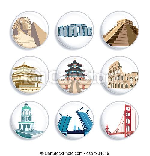 Travel badges | Set 2 - csp7904819