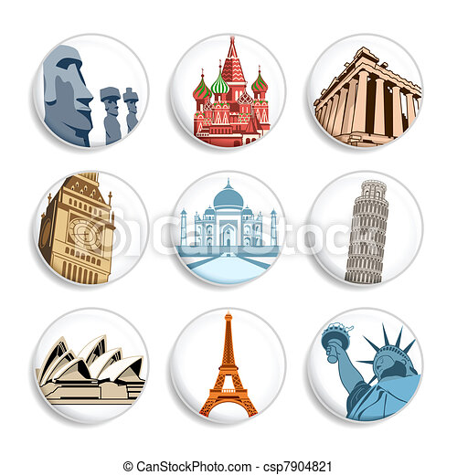 Travel badges | Set 1 - csp7904821