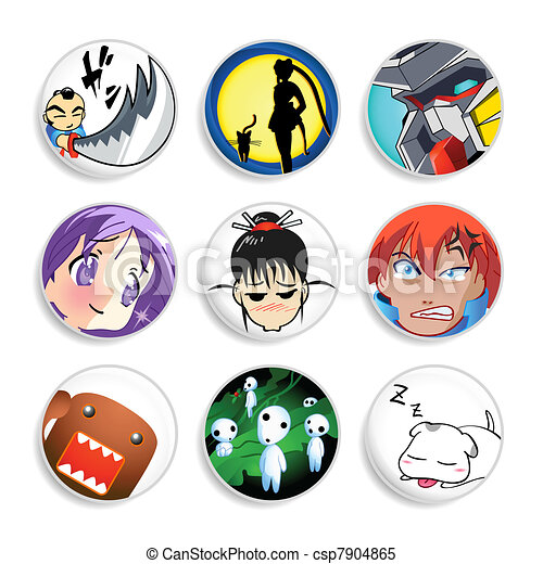 Anime badges | Set 1 - csp7904865