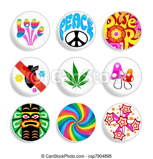 Hippie badges - csp7904898