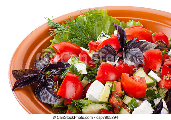 Greek Salad with Tomatoes, Feta and Vegetables - csp7905294
