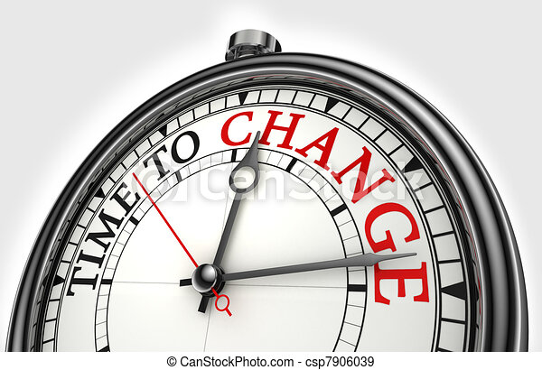 time to change concept clock - csp7906039