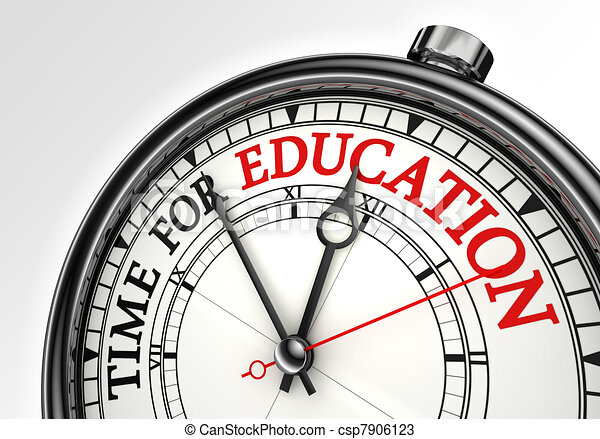 time for education concept clock  - csp7906123