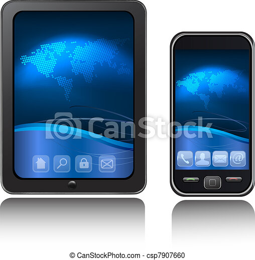 Tablet Computer and mobile phone - csp7907660