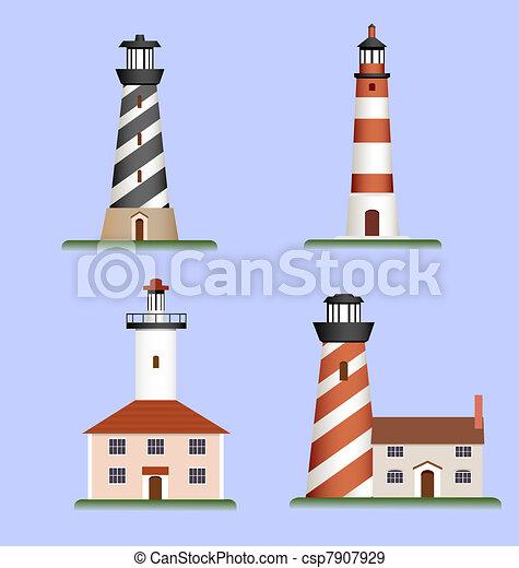 set of lighthouses - csp7907929
