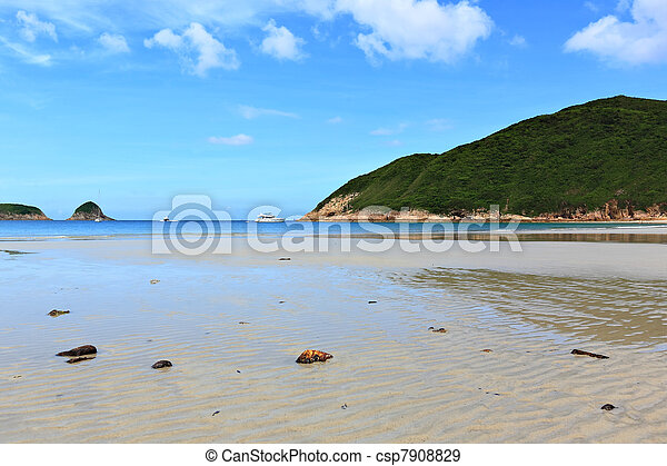 Sai Wan beach in Hong Kong - csp7908829