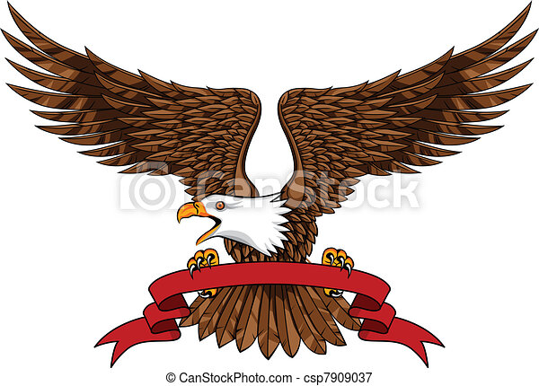 Eagle with emblem - csp7909037