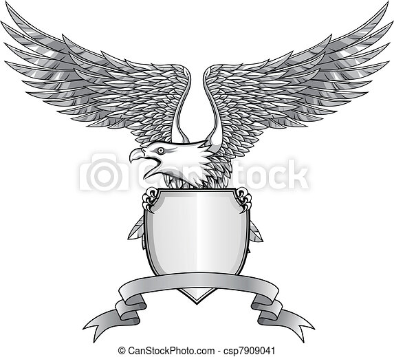 Eagle with shield - csp7909041