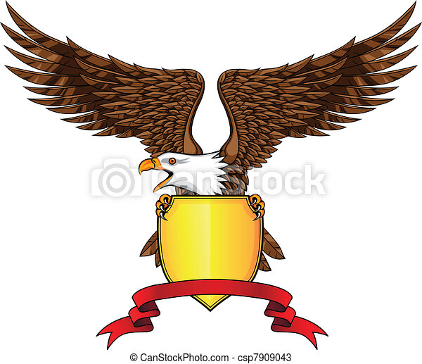 Eagle with shield - csp7909043