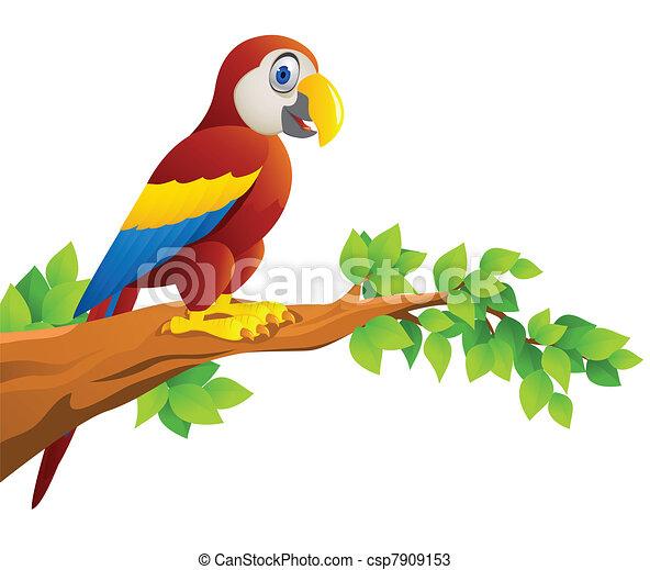 Macaw bird cartoon - csp7909153