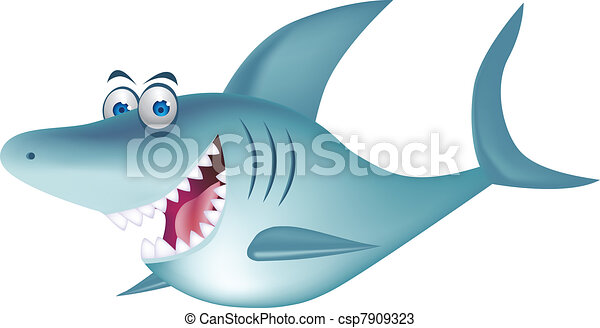 Shark cartoon - csp7909323