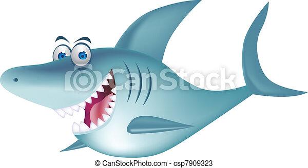 Shark cartoon - csp7909323