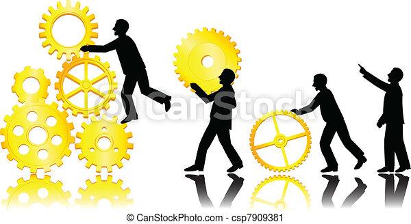 Teamwork concept - csp7909381