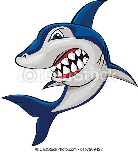 Angry shark - csp7909423