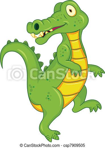 Crocodile cartoon - csp7909505