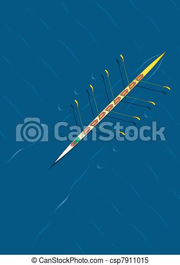 Rowing team diagonal - csp7911015