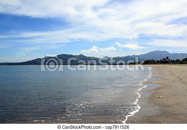 Nobody on the beach - csp7911526