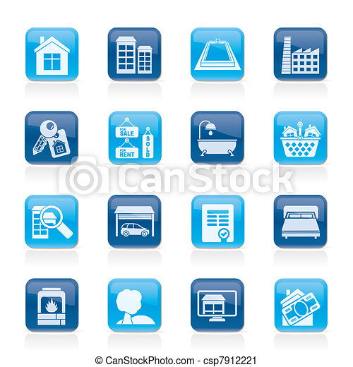 Real Estate objects and Icons  - csp7912221