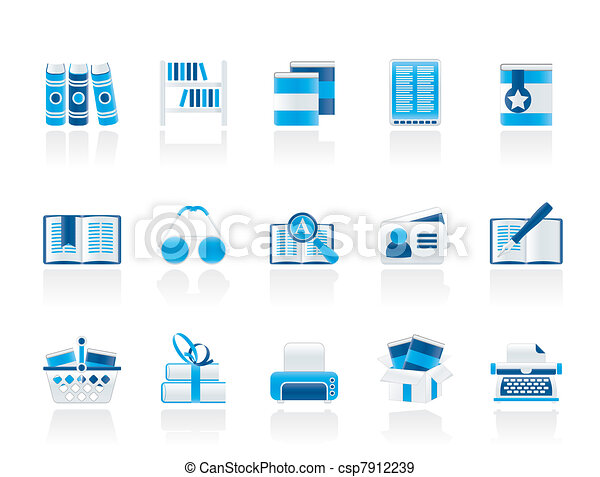 Library and books Icons - csp7912239
